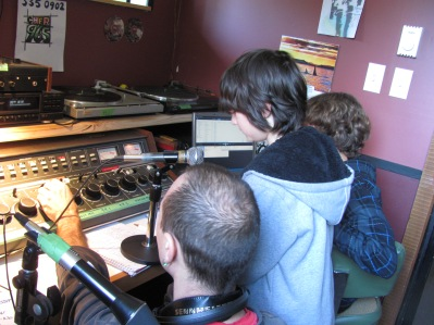 Science afternoon at the Radio Station.