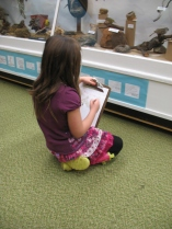 Sketching in the Natural History Centre.